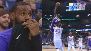 LeBron James Tries Not To Laugh At Lance Stephenson