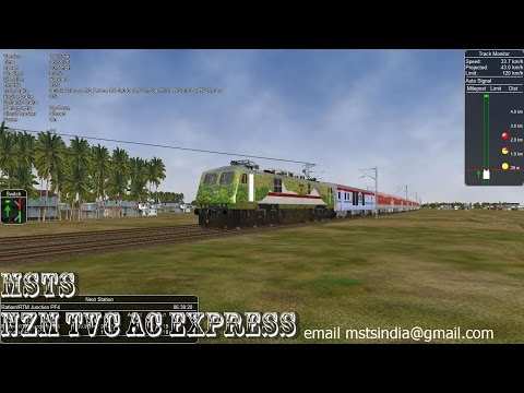Xxx Mp4 MSTS Indian Railway NZM TVC AC Express Passing Through Stunning Open World 3gp Sex