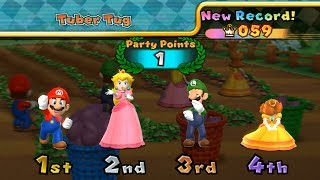 Mario Party 9 Tuber Tug - My High Score & Other Minigame| Cartoons Mee