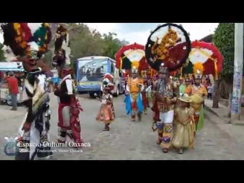 Recorrido Tercer Encuentro de Danza de la Pluma 2015 San Jeronimo Tlacochahuaya