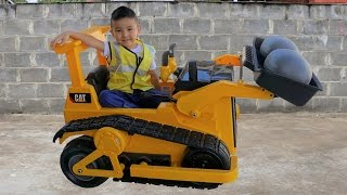 Backyard Bulldozer Electric Ride On Car Fun Kids Building Construction Play With Ckn Toys