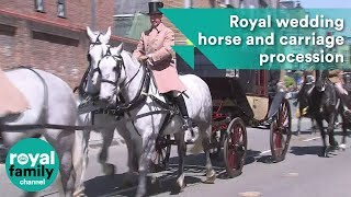 Royal wedding horse and carriage procession rehearsal