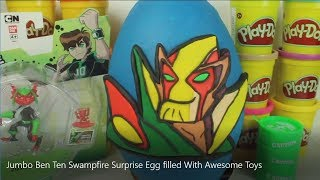Jumbo Ben Ten Swampfire Surprise Egg filled With Awesome Toys