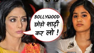 OMG: Sridevi wants Jhanvi to quit bollywood and get married!