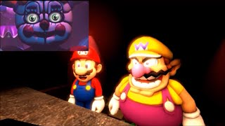 [SFM] 400 subs special Mario and Wario reacts to fnaf sister location trailer (Please watch it!)