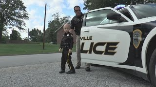 6-year-old boy becomes police officer