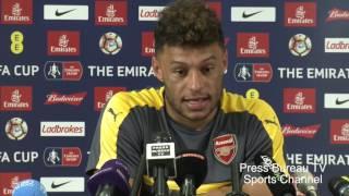 Alex Oxlade - Chamberlain pre Arsenal vs Chelsea FA CUP Final