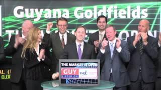 Guyana Goldfields Inc. (GUY:TSX) opens Toronto Stock Exchange, February 11, 2014.