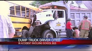 Holyoke PD cite dump truck driver in bus crash