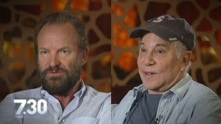 Sting and Paul Simon talk to 7.30 about finding musical common ground