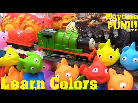 Educational Toy for Toddlers Learn Colors. Thomas & Friends Trackmaster Trains and Dinosaur Toys