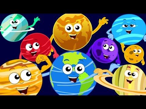 Planets Song | Kids Songs | Nursery Rhymes | Rhymes For Children | Kids Tv Cartoon Videos For Kids