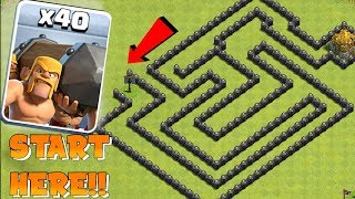YOU WONT BEAT THIS!! | Clash of clans | BATTLE RAM MAZE!!!