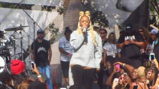 Trina - Rockstarr (Rapper) singing at Amber Rose's 2nd Annual SlutWalk 2016.