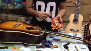 HOW TO CHANGE YOUR ACOUSTIC GUITAR STRING in BANGLA!!!