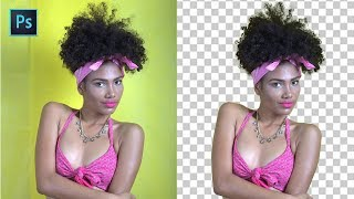 Photoshop Quick Tip: Cut Out Subject from Background in 3 Easy Steps - Refine Hair masking Tutorial