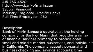 BMRC Bank of Marin Bancorp BMRC buy or sell Buffett read basic