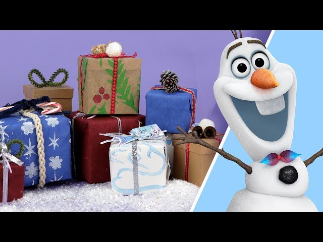 How to Make Olaf's Frozen Adventure Gift Wrap | Disney Family