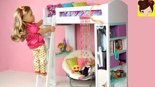 Rutina de Mañana Escolar de Mi Muñeca en su Habitacion con Litera - Pijamas de Emojis