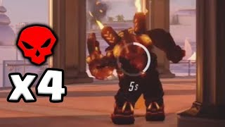 AFK Dancing Torbjorn Gets A MULTI-Kill - Overwatch Funny Moments #54