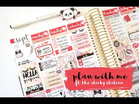 Plan with Me Glam Life ft. The Sticky Station