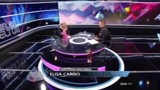 Elisa Carrio con Alejandro Fantino en
