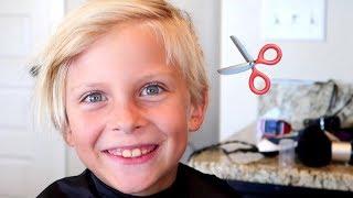Cute Little Kids Get Cute Haircut!
