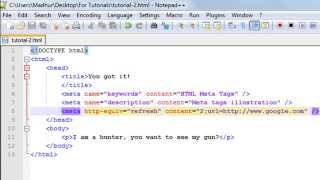 HTML Tutorial - 2: Meta Tag in HTML