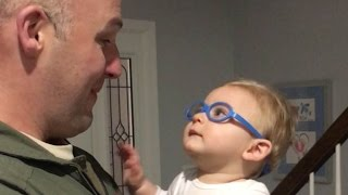 Baby See's Military Dad First Time With Glasses
