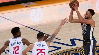 Stephen Curry Half Court 3 44 Points! Clippers vs Warriors! 2017-18 Season