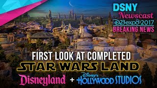 First Look at Completed Star Wars Land Model at D23 EXPO 2017 - Disney News - 7/13/17