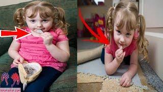 """هذه الطفلة تأكل السجاد والمفروشات """"ولا تأكل أي من المواد الغذائية والسبب فظيع ومرعب"""""""