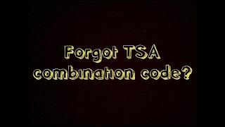 3-Minutes How to Unlock TSA Combination Lock (EASY)