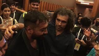 Anurag kashyap crying and hugging Imtiaz Ali at Mukkabaaz screening