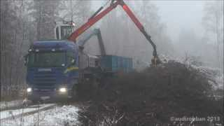 Scania R500 8x4 With Bruks Wood Chipper