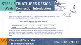 Welded Connection Introduction | Design of Steel Structures