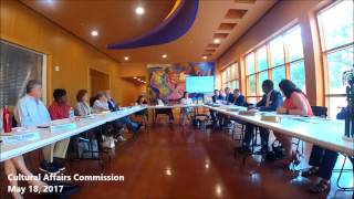 Cultural Affairs Commission Meeting - May 18, 2017