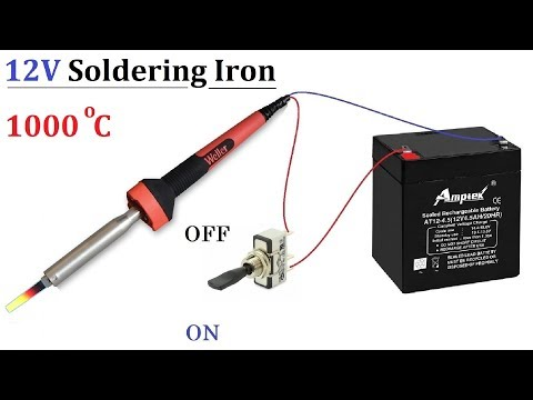 Convert 220v AC Soldering Iron to 12v 50W DC without Inverter Amazing idea 2019