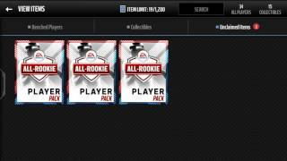3x ELITE ALL ROOKIE PLAYER PACKS! MM16