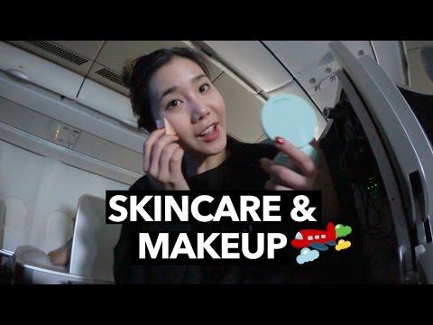 My In-Flight Skincare & Makeup Routine (Korea ✈️  Malaysia)