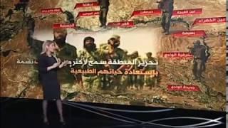 خريطة سيطرة الجيش السوري على وادي بردى