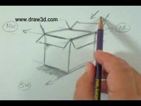 How To Draw with Mark Kistler Flowers in a 3 D Box