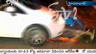 Drunken and CareLess Driving Caused Accident In Banjara Hills of Hyderabad - ETV2