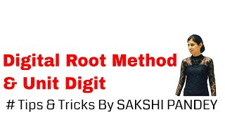 Unit Digit & Digital Root - how to select the correct answer from given options