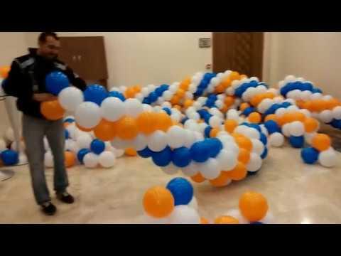 zincir balon yapılışı balon dekorasyonu