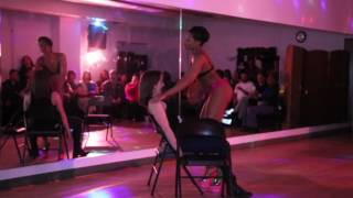 Instructor Jessica's lap dance performance at our student showcase 2017