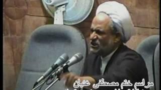تکبیر اعتراض آمیز در حضور پسر خامنهای