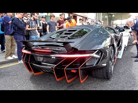 2.5Million Lamborghini Centenario CAUSES CHAOS in London