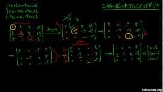 دستگاه معادلات خطی ۱۱ - روش گاوس-جردن