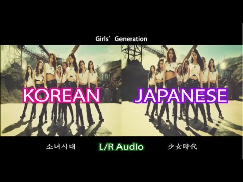 [Comparison] Girls' Generation 《Catch Me If You Can 》 Korean/Japanese ver.